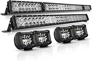 LED Light Bar Kit, Autofeel 6000K 52 Inch + 32 Inch 35000LM Flood Spot Beam Combo White LED Light...