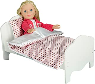 Olivia's Little World - Princess Classic Single Bed   Wooden 18 inch Doll Furniture
