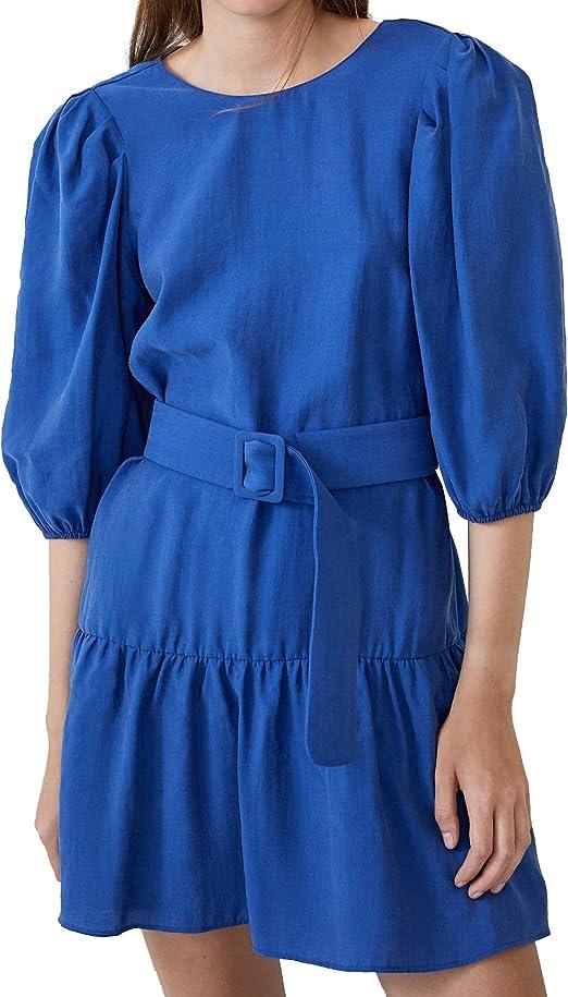 Zara 4661/307/420 - Vestido con cinturón para Mujer - Azul ...