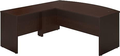 Bush Business Furniture Series C Elite 72W x 36D Bowfront Desk Shell with 42W Return in Mocha Cherry