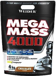Weider Mega Mass 4000 Sabor Chocolate (4000 g). 69% de hidratos.Enriquecido con Vitaminas y Miner...