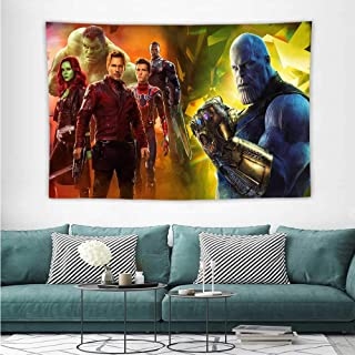 HoMdEfW Dorm Tapestry Avengers Infinity War Movie Poster 2O Fashion Wall Tapestry W84 x L70 inch