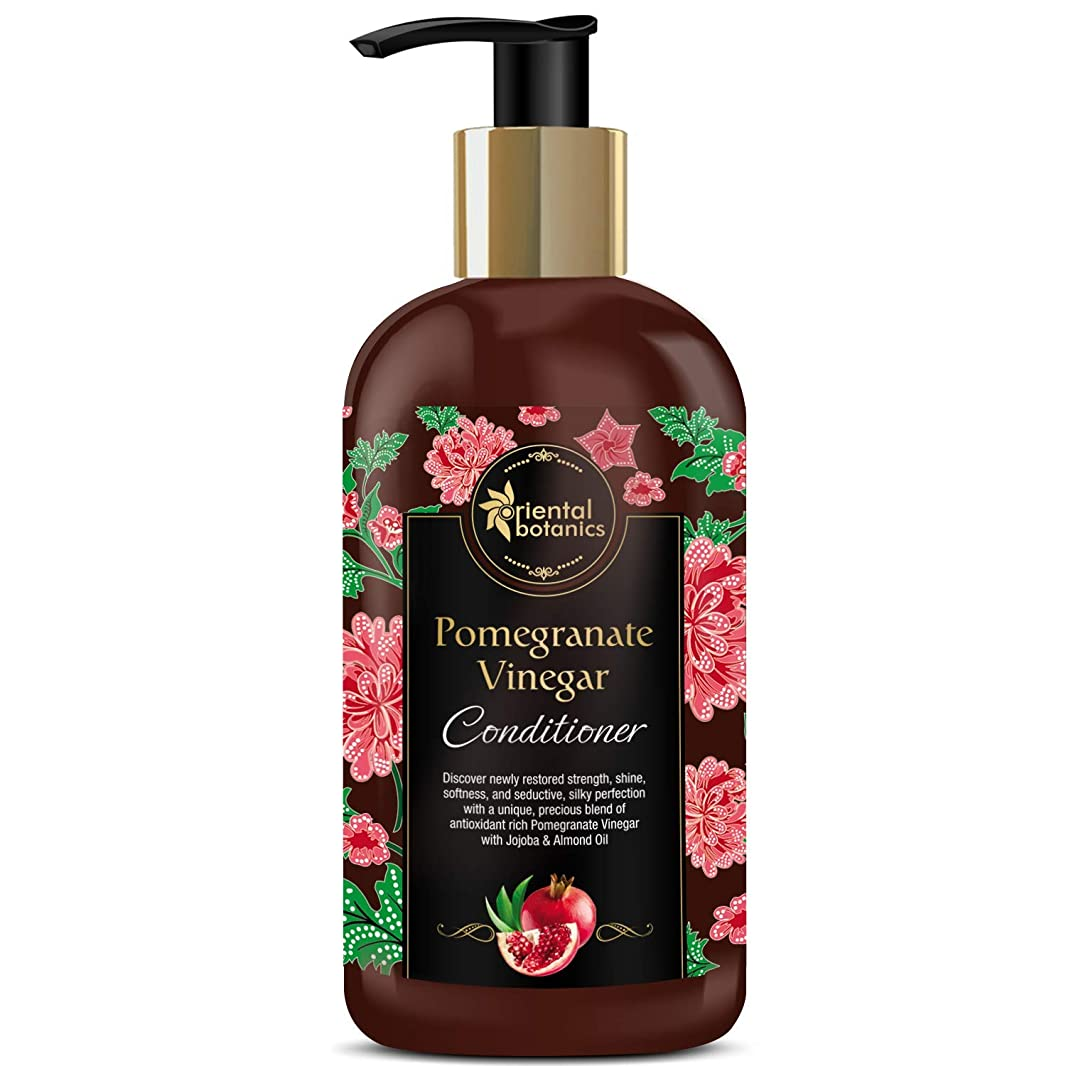 経験眠り待つOriental Botanics Pomegranate Vinegar Conditioner - For Healthy, Strong Hair with Antioxidant Boost & Golden Jojoba Oil, 300ml