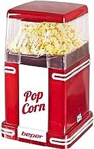 Beper - Machine à Pop-Corn, Pop-Corn en 3 Minutes, Sans Matières Grasses, Circulation d'Air Chaud, Puissance 1200W - Rouge...