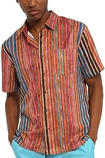 Camisa De Solapa Para Manga Corta De Hombre Fashion Tamaños Cómodos Camisa Hawaiana Simple Camisa De Verano Con Camisa A C...