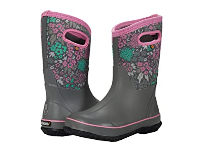 Bogs Kids Classic Big NW Garden (Toddler/Little Kid/Big Kid) (Dark Gray Multi) Girls Shoes