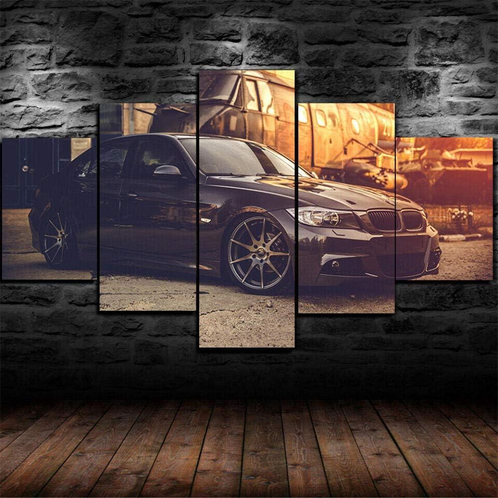 Painting Kunstdruck 5 Teilig Leinwandbilder Bilder BMW E90 M3 Sports Car Wandkunst Für Zuhause Büro Weihnachten Geburtstag Geschenk 5 Teiliges…