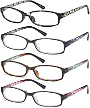 Gamma Ray Women's Reading Glasses 4 Print Ladies Fashion Readers for Women – 2.25