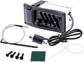 ASCENDAS Guitar EQ-7545R 4-Band EQ Equalizer System Acoustic Guitar Preamp for Acoustic Guitars Black (CURVE)
