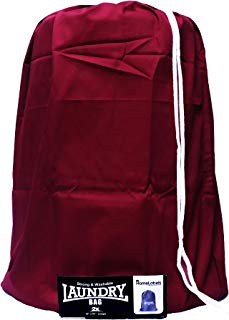 """HomeLabels Cotton Laundry Bag - 2 Pack, Natural, 30""""x 40"""" - Commercial Grade 100% Cotton, Designed for Heavy Duty Use, College Laundry Bags, Laundromat and Household Storage - Red"""