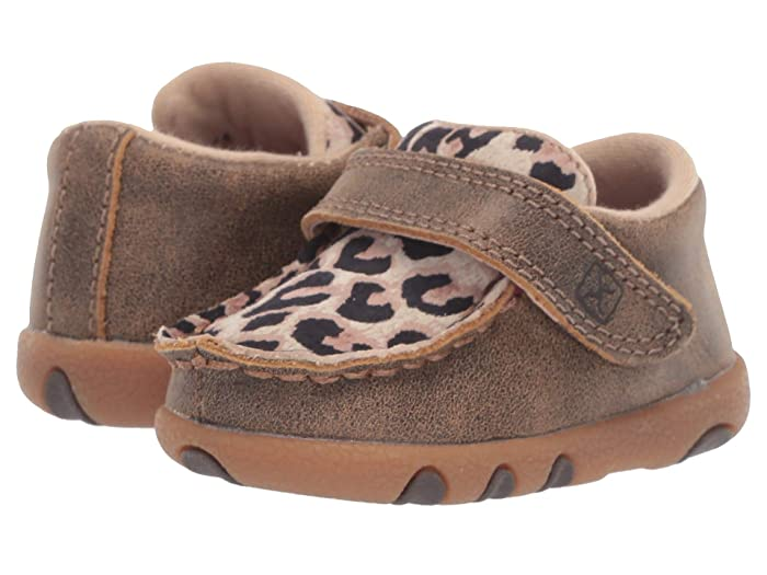 Twisted X  Driving Moc (Infant/Toddler) (Bomber/Leopard) Shoes