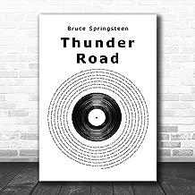 Thunder Road Vinyl Record Song Lyric Art Music Quote Gift Poster Print