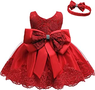 Best Baby Dress, Bowknot Flower Dresses Lace Pageant Party Wedding Flower Girl Tutu Gown Review