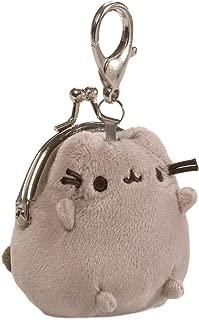GUND Pusheen Cat Plush Stuffed Animal Mini Coin Purse, Gray, 3