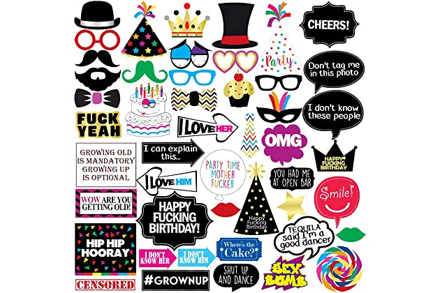 Funny Birthday Photo Booth Props