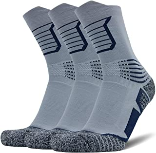 AUDTOPEM Men's Athletic Running Socks for Basketball, Hiking, Cycling (3 Pack)