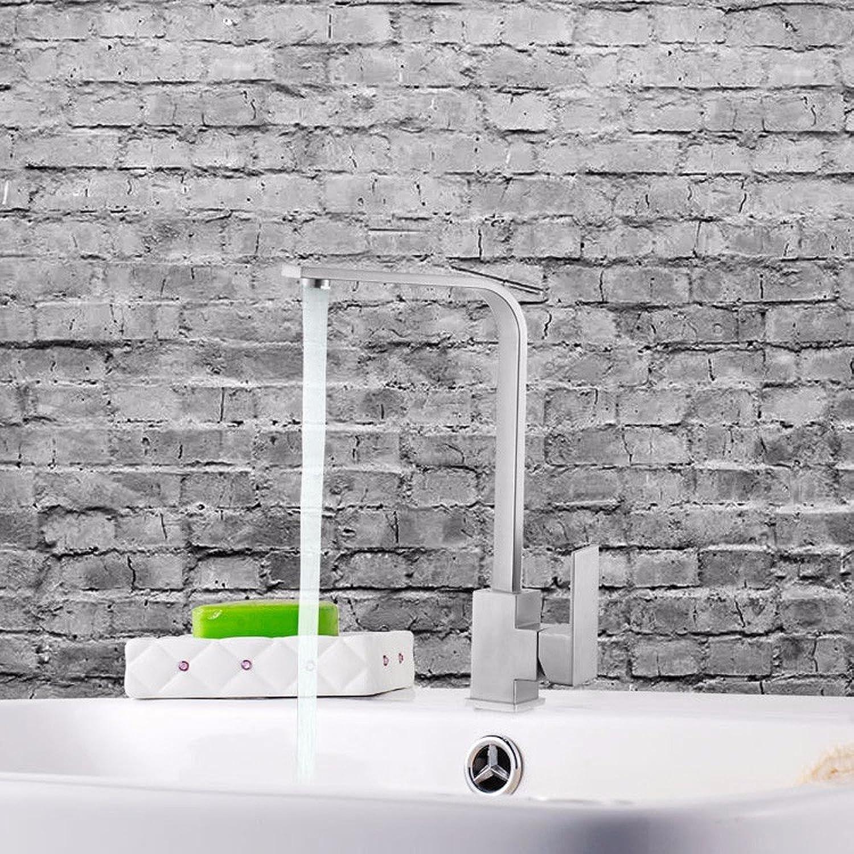 Gyps Faucet Waschtisch-Einhebelmischer Waschtischarmatur BadarmaturKüche Wasserhahn heie und kalte Gerichte Waschbecken Wasserhahn Einzigen Griff aus Edelstahl 304 warme und kalte Küche Spüle W