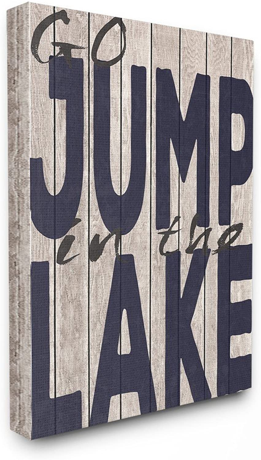Stupell Industries Go Jump Jump Jump in The Lake Country Typography