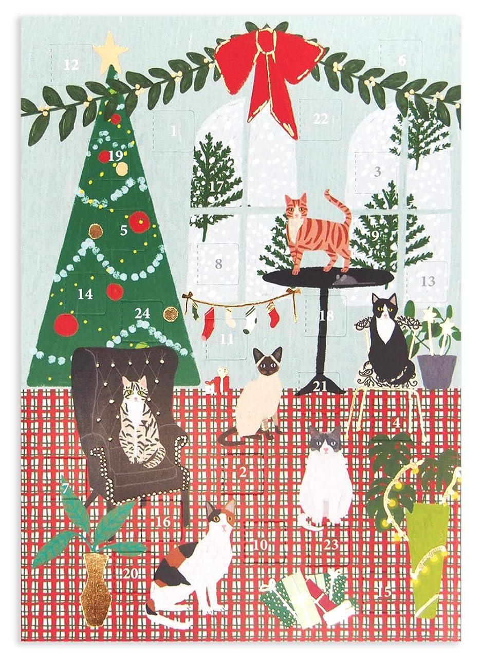 目の前のスロベニア恐怖ロジャーラボード 【クリスマス】 アドベントカレンダー (クリスマスの部屋と猫たち) ACC065