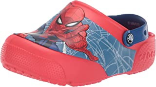 Crocs Kids' Boys and Girls Spiderman Light Up Clog