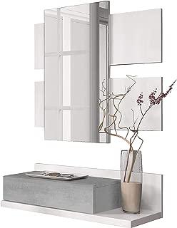 Habitdesign 0L6742A - Recibidor con cajón y Espejo, Mueble