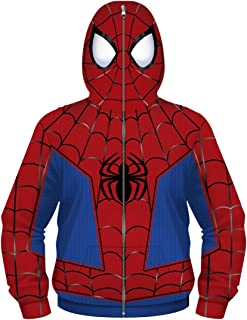 Plustrong Boys Kids Teen Full Zip Up Costume Hoodie Cosplay Sweatshirts Jackets