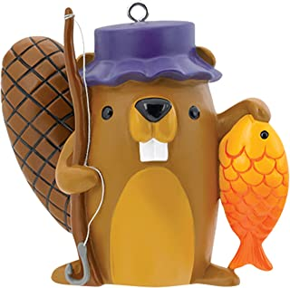 Carlton Heirloom Ornament 2017 Fishing - Beaver with Fishing Pole - #CXOR068M