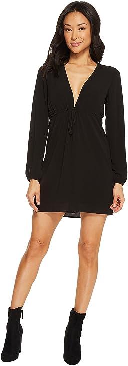Tavik - Violet Long Sleeve Mini Crepe Dress