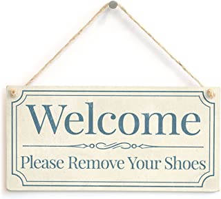 Meijiafei Welcome Please Remove Your Shoes - Home Accessory Gift Sign/Plaque for Home Entrance Vestibule 10