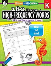 180 Days of High-Frequency Words for Kindergarten – Learn to Read Kindergarten Workbook – Improves Sight Words Recognition and Reading Comprehension for Grade K, Ages 4 to 6 (180 Days of Practice) PDF