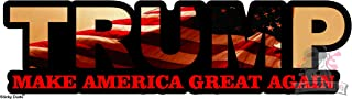 2 pcs - Donald Trump Make America Great Again Support our President Vinyl STICKER / DECAL USA Flag cute, funny and nice for car, laptop, ipad, mac, truck, iphone and personal staffs