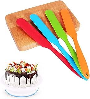 Silicone Spatula Set -450°F Heat-Resistant Non Stick Cake Cream Butter Spatulas Mixing Batter Scraper Brush Silicone Baking Spoon Cook Tool (4 pcs)