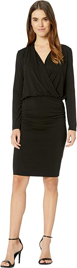 Jules Jersey Long Sleeve Cross Front Dress