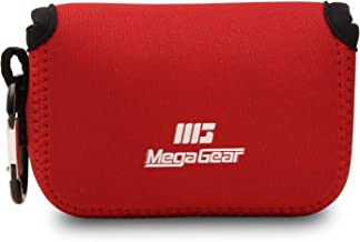 MegaGear MG808 Ultra Light Neoprene Camera Case Compatible with Fujifilm FinePix XP140, XP130, XP120, XP90 - Red