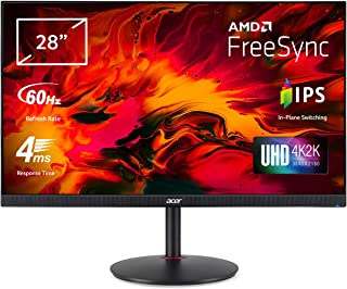 Acer Nitro XV280Kbmiiprx 28' UHD Gaming Monitor (IPS Panel, FreeSync, 60Hz, 4ms, HDR 10, DP, HDMI, höhenverstellbar, schwarz)