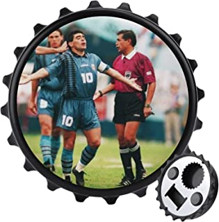 Fotboll legend flasköppnare ett lock multifunktionell öl flasköppnare, möbler kylskåp dekoration klistermärke