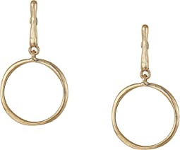Stick Circle Drop Earrings