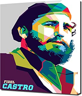 Fidel Castro 1 - Pop Art - Modern Art - Wall Picture - Canvas Print