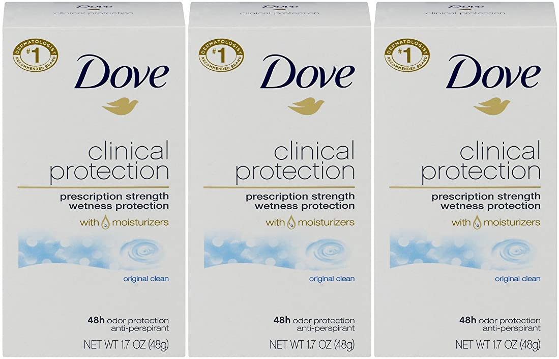 自信がある手紙を書く通りDove Clinical Protection Antiperspirant Deodorant, Original Clean, 1.7 Oz by Dove