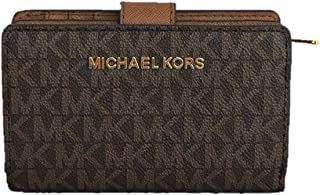 Michael Kors Jet Set Travel Medium Bifold Zip coin Wallet - Brown