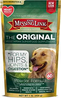 The Missing Link Original Vegetarian Hips, Joints & Digestion Powdered Supplement For Dogs, 1 lb Resealable Bag