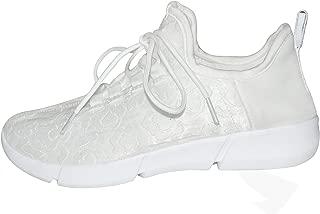 Fiber-Optic Light Shoes White LED Flashing Sneakers for Kids & Women Festivals Running Shoes