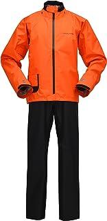 ヤマハ(YAMAHA) バイク用 レインスーツ YAR17 サイバーテックスIII ダブルガードレインスーツ オレンジ S