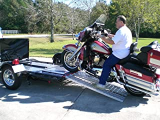 single folding motorcycle trailer