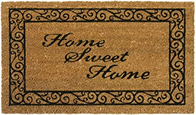 """Rubber-Cal """"Home Sweet Home"""" Welcome Coir Welcome Mat, 18 x 30-Inch"""