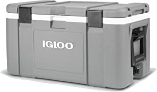 Igloo 00048494 Mission 50 Quart 47 Liter Lockable Insulated Lined Ice Chest Cooler with Heavy Duty Handles, Gray