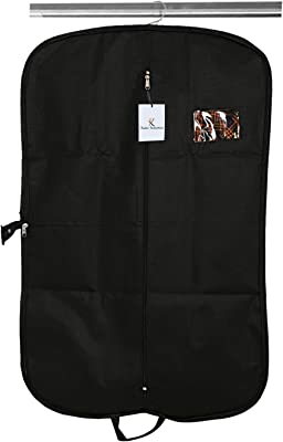 Kuber Industries Foldable Non Woven Coat Cover, Black (CTKTC2400)