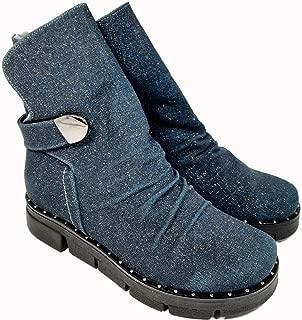 Nemesis Shoes Kadın Bot Mavi Simli Deri