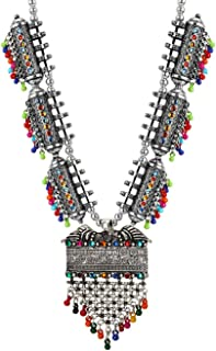 Ethnic Fashion Handmade Statement African Indian Turkish Tribal Oxidized Bollywood German Silver Necklace Jewelry