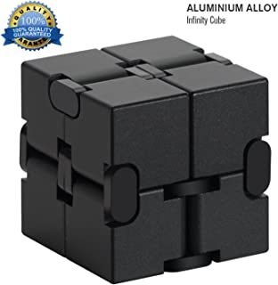 Infinity Cube Aluminum Alloy Fidget Cubes for ADD,ADHD,Anxiety, Austism Adults & Kids